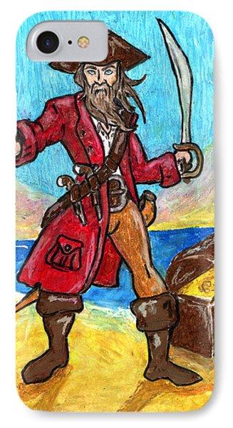 Captain's Treasure Phone Case by William Depaula