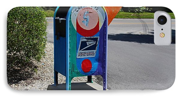 IPhone Case featuring the photograph Captiva Island Mailbox- Horizontal by Michiale Schneider