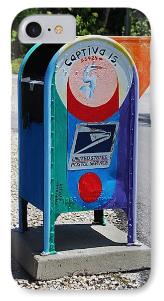 IPhone Case featuring the photograph Captiva Island Mailbox- Vertical by Michiale Schneider