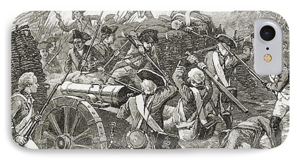 Capture Of A Redoubt At Yorktown, 1781 IPhone Case by Vintage Design Pics