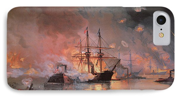 Capture Of New Orleans By Union Flag Officer David G Farragut IPhone Case by Julian Oliver Davidson