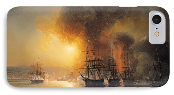 Capture Of The Fort Of Saint Jean Dulloa On 23rd November 1838 Phone Case by Jean Antoine Theodore Gudin