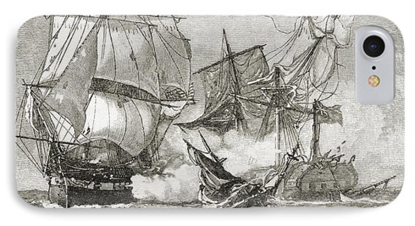 Capture Of The Guerriere By The Constitution IPhone Case
