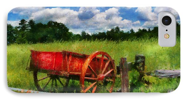 Car - Wagon - The Old Wagon Cart Phone Case by Mike Savad