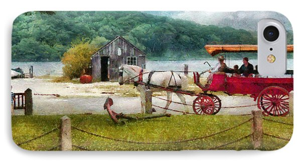 Car - Wagon - Traveling In Style Phone Case by Mike Savad