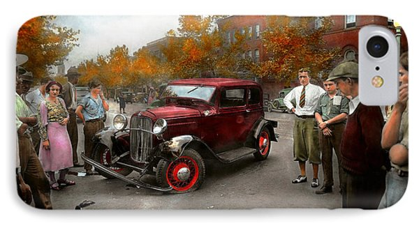 Car - Accident - Late For Tee Time 1932 IPhone Case