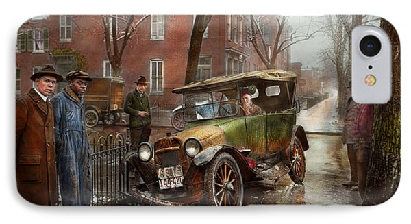 Car Accident - Watch For Ice 1921 IPhone Case
