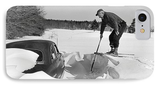 Car Buried In Snow IPhone Case