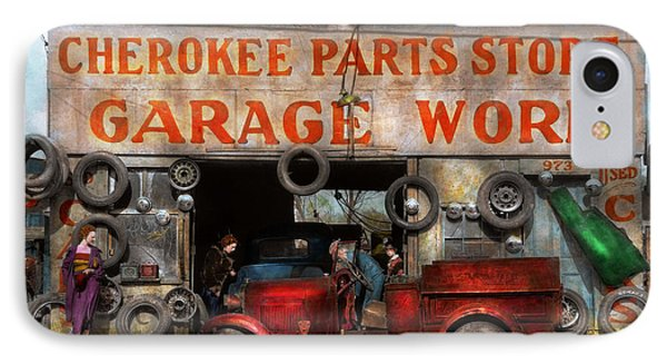 Car - Garage - Cherokee Parts Store - 1936 IPhone Case by Mike Savad