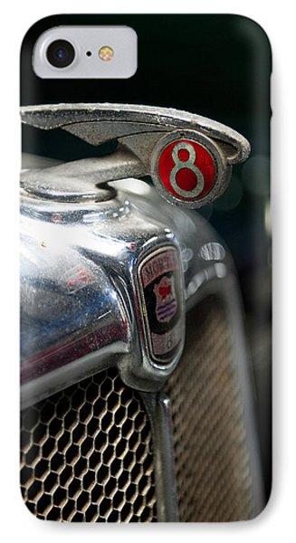 Car Mascot V IPhone Case by Helen Northcott