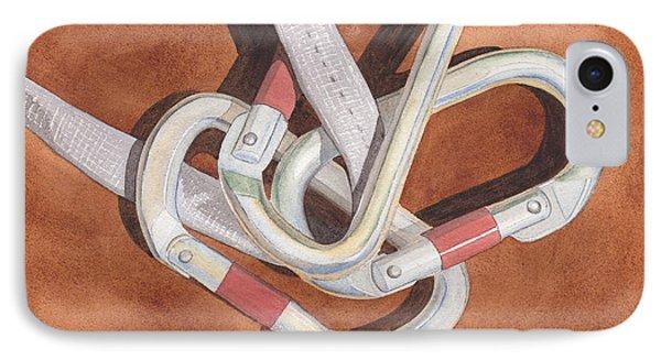 Carabiners Phone Case by Ken Powers