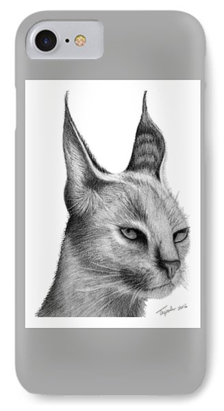 Caracal IPhone Case by Lawrence Tripoli