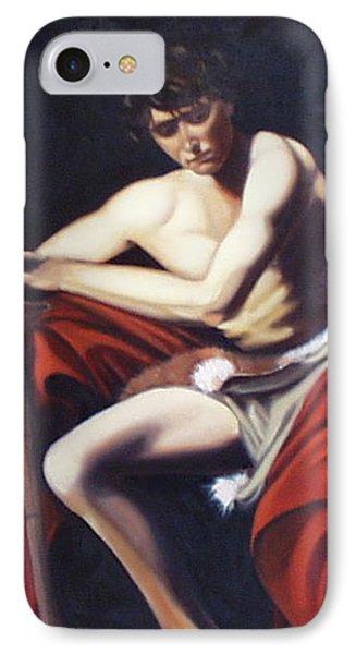 Caravaggio's John The Baptist Study Phone Case by Toni Berry