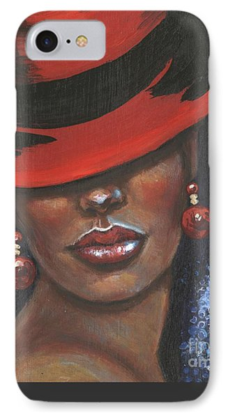 IPhone Case featuring the painting Carbaret Red by Alga Washington