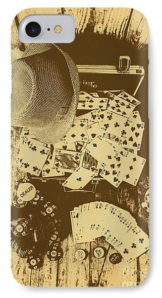 Card Games And Vintage Bets IPhone Case