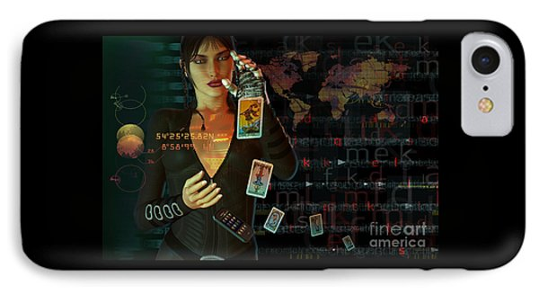 IPhone Case featuring the digital art Card Reader by Shadowlea Is