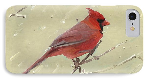 Cardinal IPhone Case by Carrie Joy Byrnes