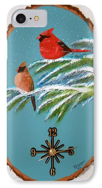 Cardinal Clock IPhone Case
