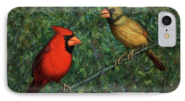 Cardinal Couple IPhone 7 Case by James W Johnson