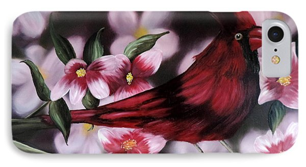 Cardinal IPhone Case by Dianna Lewis