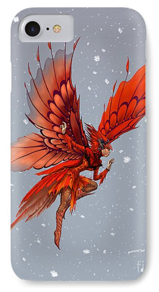 IPhone Case featuring the digital art Cardinal Fairy by Stanley Morrison