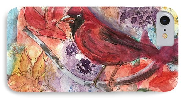 Cardinal In Flowers IPhone Case