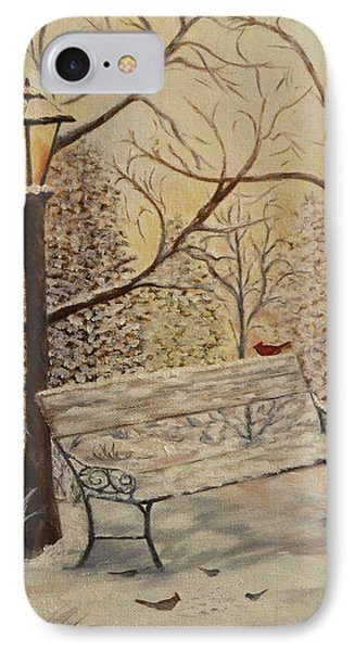 Cardinal In The Snow Phone Case by Douglas Ann Slusher