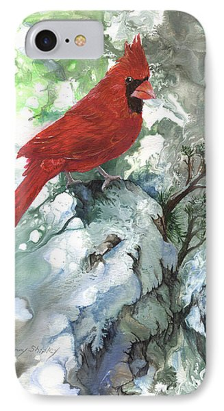IPhone Case featuring the painting Cardinal by Sherry Shipley