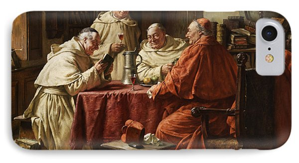 Cardinal With Monks IPhone Case by Fritz Wagner