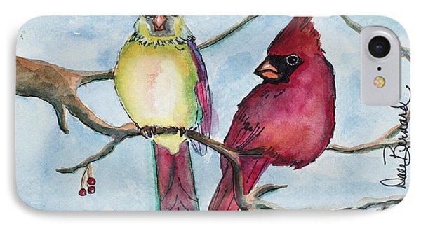 Cardinals Phone Case by Dale Bernard