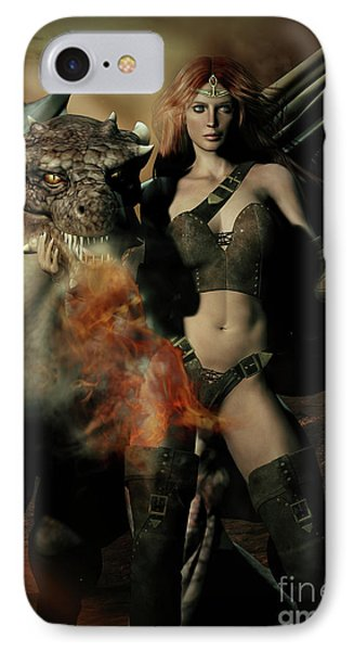 Careful He Burns IPhone 7 Case by Shanina Conway