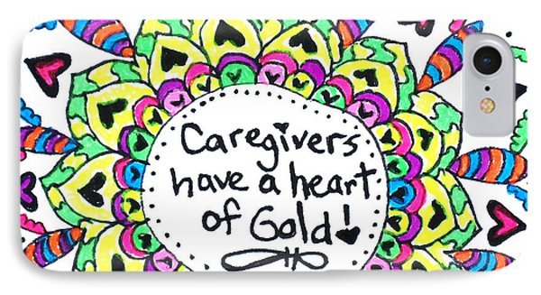 Caregiver Flower IPhone Case by Carole Brecht