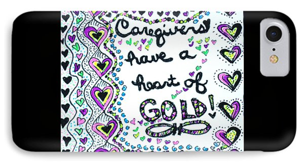 Caregiver Joy IPhone Case by Carole Brecht