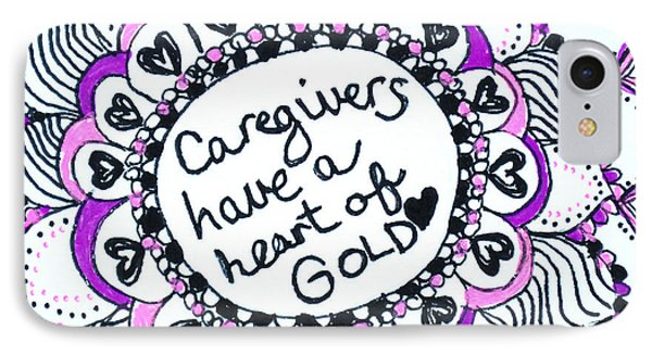 Caregiver Sun IPhone Case by Carole Brecht