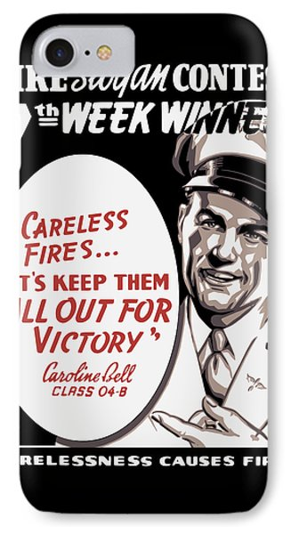 Carelessness Causes Fires Phone Case by War Is Hell Store