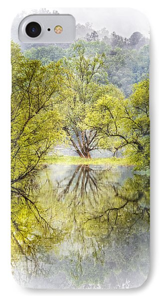 Caress In The Mist IPhone Case by Debra and Dave Vanderlaan