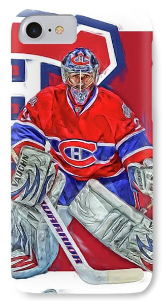Carey Price Montreal Canadiens Oil Art IPhone Case