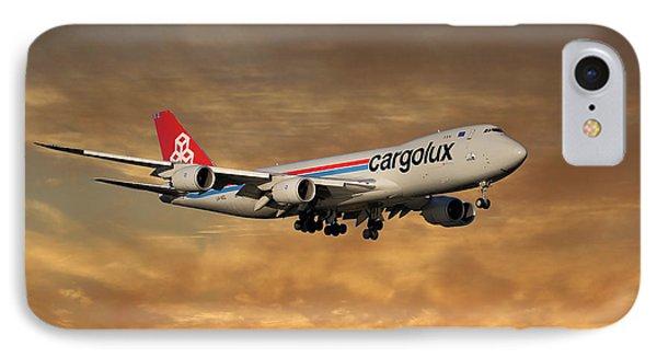 Jet iPhone 7 Case - Cargolux Boeing 747-8r7 2 by Smart Aviation