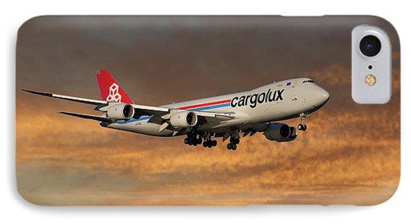 Jet iPhone 7 Case - Cargolux Boeing 747-8r7 3 by Smart Aviation