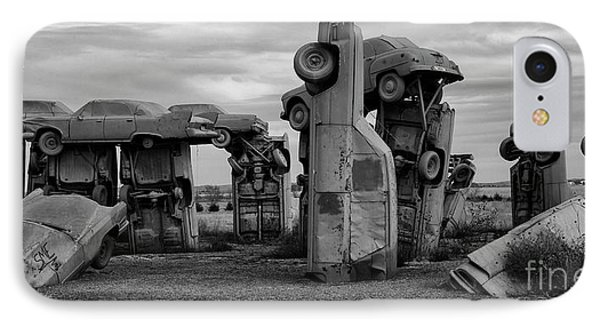 Carhenge Nebraska 17 IPhone Case by Bob Christopher