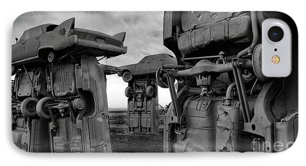 Carhenge Nebraska 18 IPhone Case by Bob Christopher