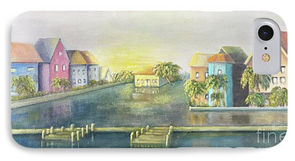 IPhone Case featuring the painting Caribbean Morning  by Marlene Book