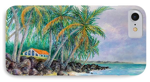 IPhone Case featuring the painting Caribbean Retreat by Susan DeLain
