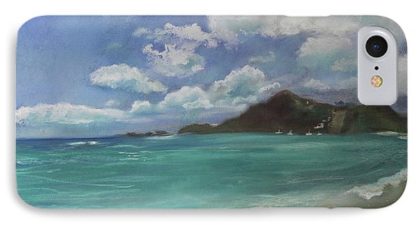 IPhone Case featuring the pastel Caribbean Sea Day Antigua by Robin Maria Pedrero