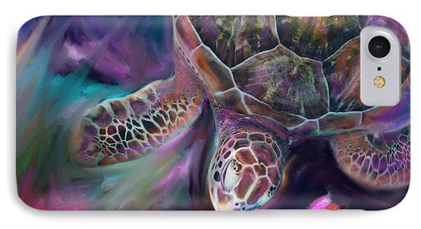Caribbean Sea Turtle IPhone Case by Julianne Ososke