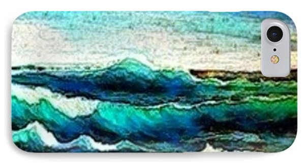 IPhone Case featuring the painting Caribbean Waves by Holly Martinson