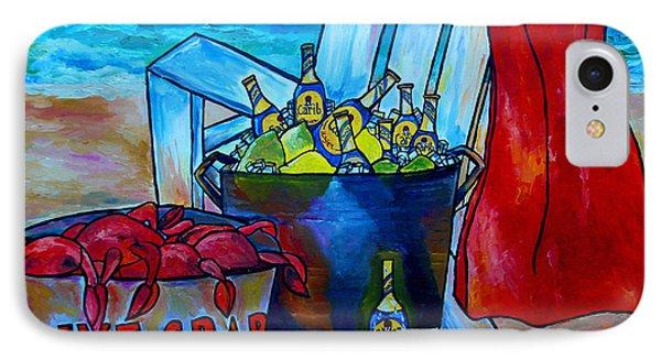 Caribe And Crab Phone Case by Patti Schermerhorn