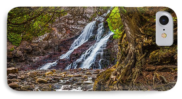 IPhone Case featuring the photograph Caribou Falls In Fall by Rikk Flohr
