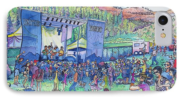 IPhone Case featuring the painting Caribou Mountain Collective At Yarmonygrass by David Sockrider