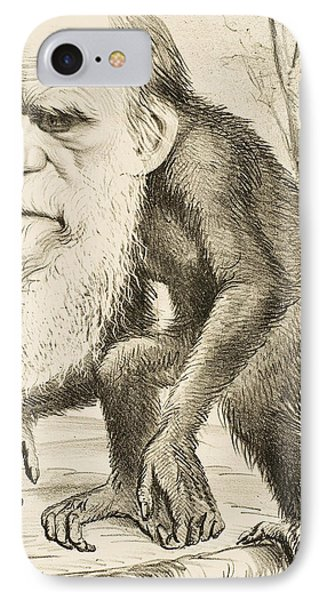 Caricature Of Charles Darwin IPhone 7 Case by English School